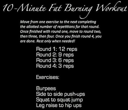 10 minute fat burning workout