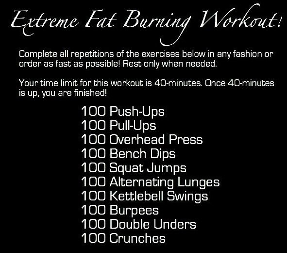 Extreme Fat Burning Workout