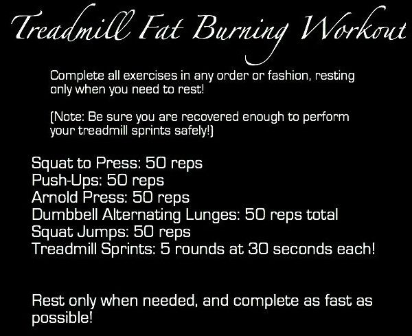 Treadmill Fat Burning Workout
