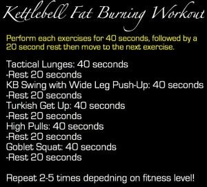 kettlebell fat burning workouts
