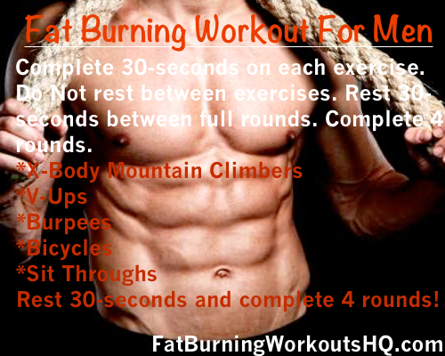 best fat burning workouts for men abs