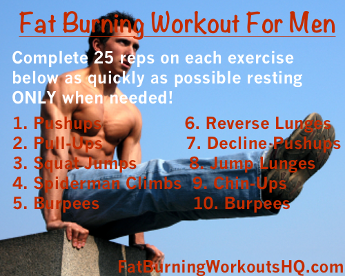best fat burning workouts for men bodyweight