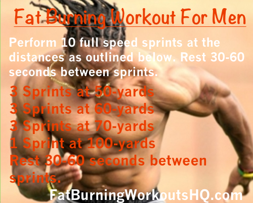 best fat burning workouts for men sprints