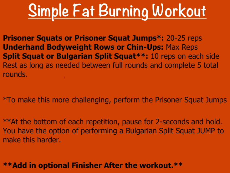 simple fat burning workout